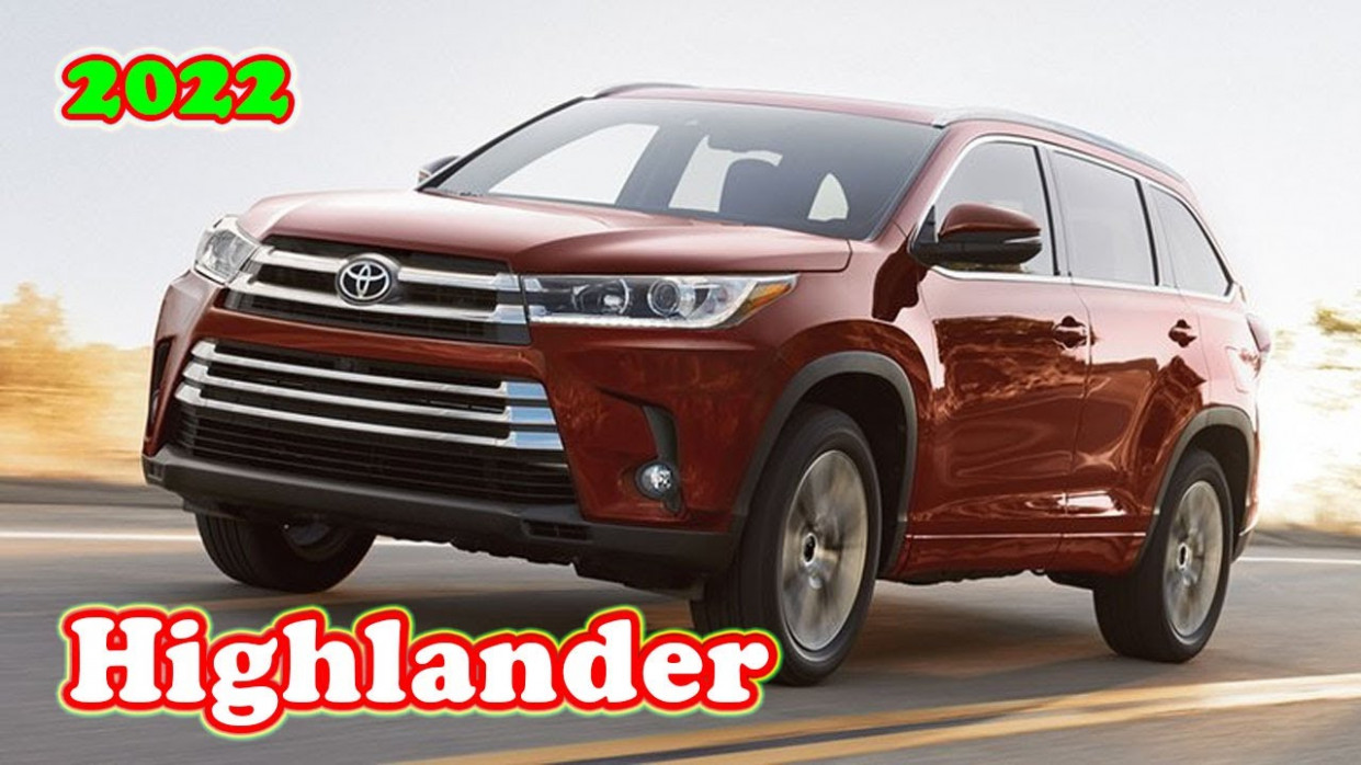 Specs When Will 2022 Toyota Highlander Be Available