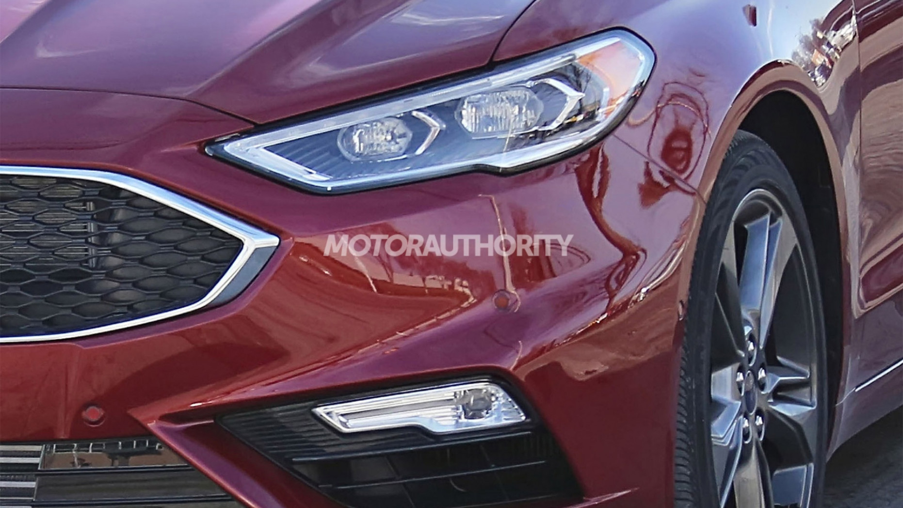 Speed Test Spy Shots Ford Fusion